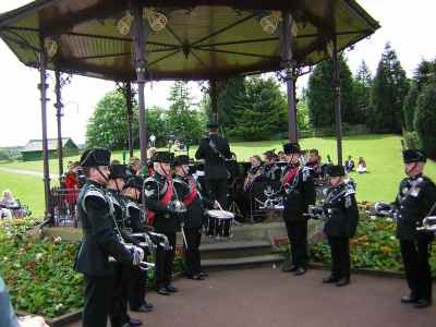 photograph: Young bandsmen at Beamish.
