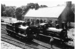 Photograph: The J21 and the J15 Locomotives  at Rowley Station Beamish.