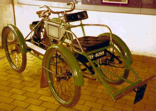 photograph: Our 1900 Humber Quadricycle.