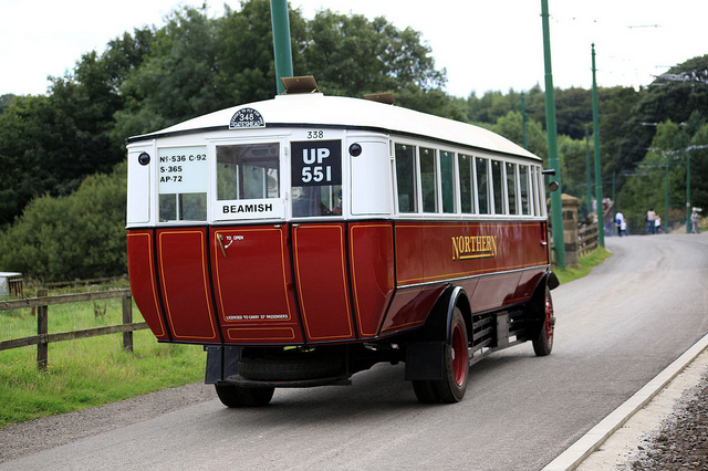 1928 SOS bus rear view