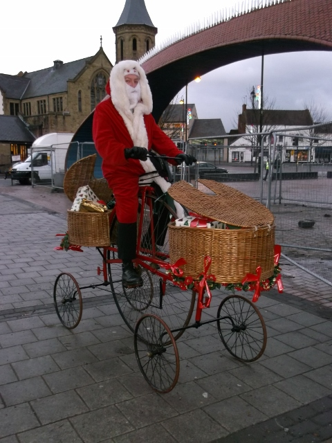 Santa on Pentacycle