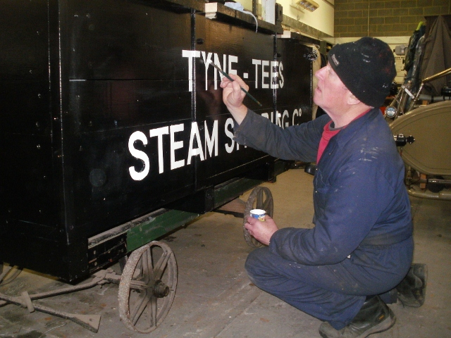 Coal Box being painted